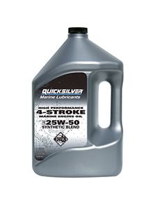 Quicksilver 4-Stroke Syntetic Blend, 25W50, 4л