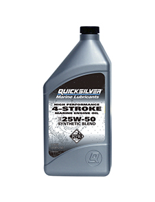 Quicksilver 4-Stroke Syntetic Blend, 25W50, 1л